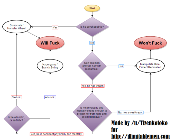 Female Attraction Flowchart